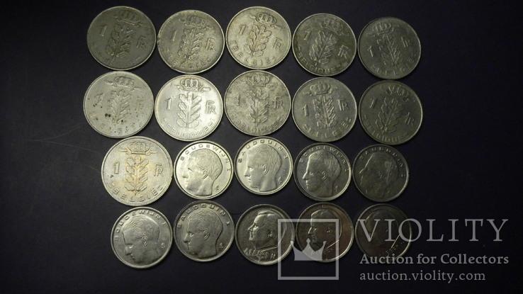 1 франк Бельгія (порічниця) 20шт, всі різні, фото №3