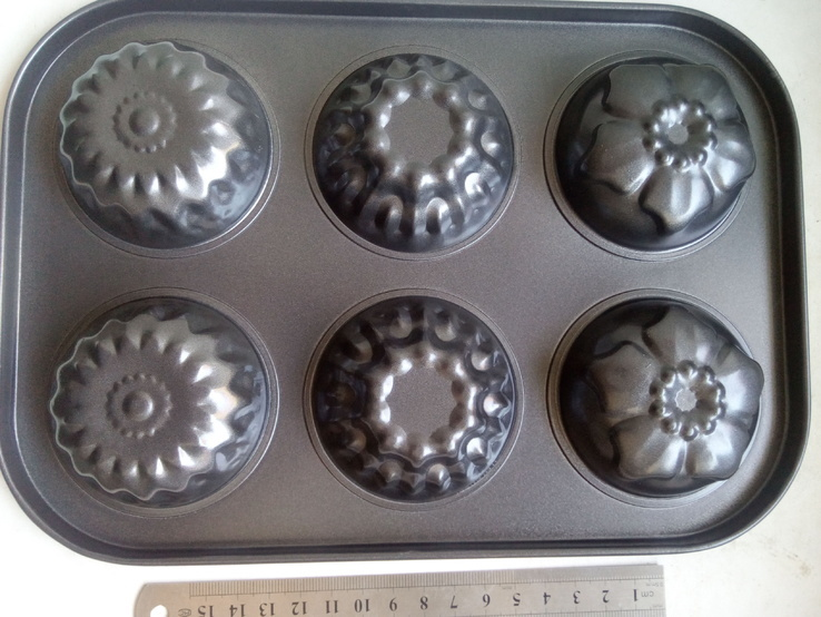 Форма металлическая для кексов 6 в 1 (1шт), фото №3