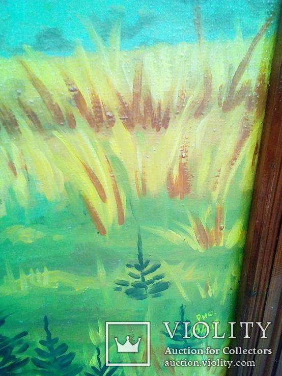 Картина Три богатыря . Маслом на холсте .. копия, фото №3