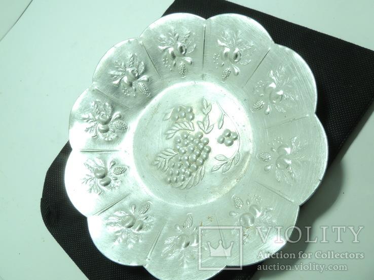 Тарелка блюдо фруктовница миниатюрная 18см металл Новосибирск, фото №2