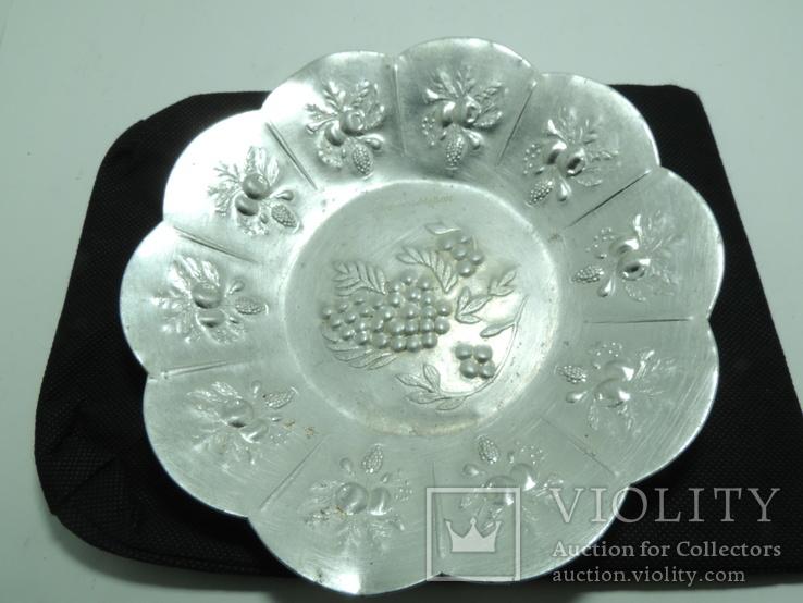 Тарелка блюдо фруктовница миниатюрная 18см металл Новосибирск, фото №3