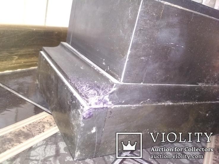 Часы каминные антикварные Жозефина мрамор шпиатр механика, фото №12