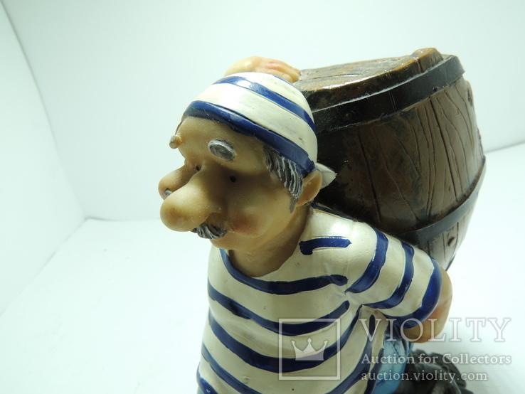Моряк якорь статуэтка подставка ручная роспись полимер тяжелая, фото №3
