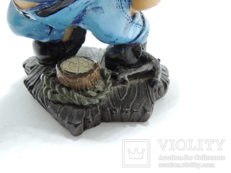 Моряк якорь статуэтка подставка ручная роспись полимер тяжелая, фото №4