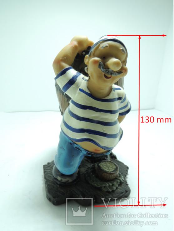 Моряк якорь статуэтка подставка ручная роспись полимер тяжелая, фото №10