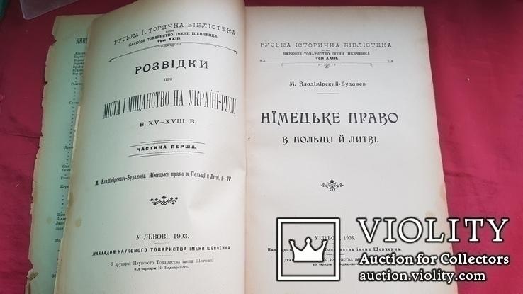 Розвідки про міста і міщанство на Україні-Руси в ХY- ХYІІ в. ч.1 1903 р., фото №4