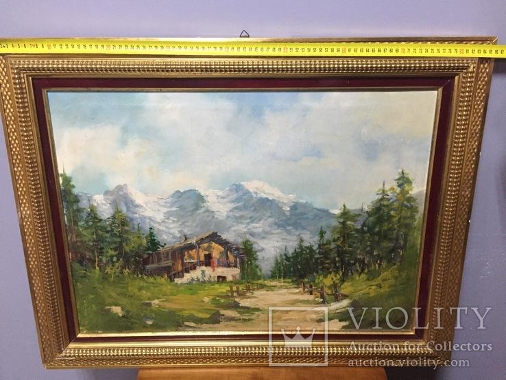 Картина пейзаж Дом У горы