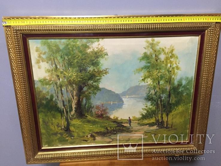 Картина пейзаж у реки