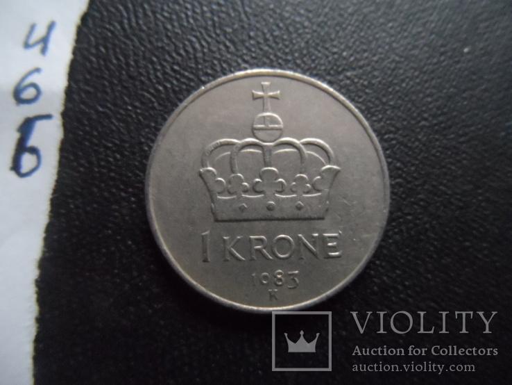 1 крона 1983  Норвегия    (И.6.6)~, фото №2