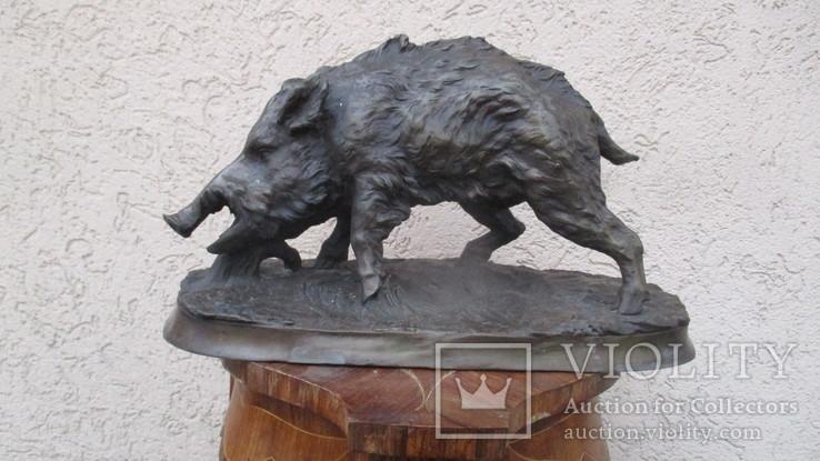 Кабан, бронза, подписной, вес 5,400 кг