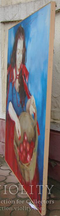 """Голубятникова Я.В. """"Девушка с корзиной яблок"""" 100см х 80см, фото №5"""