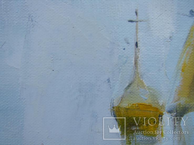 """Голубятникова Я.В. """"Церковь в с.Александровка. Туман"""" 60см х 40см, фото №6"""