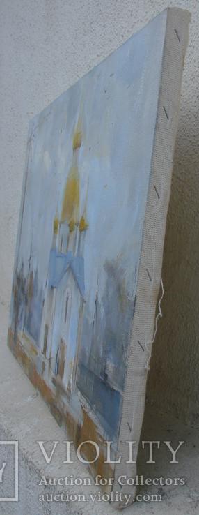 """Голубятникова Я.В. """"Церковь в с.Александровка. Туман"""" 60см х 40см, фото №8"""