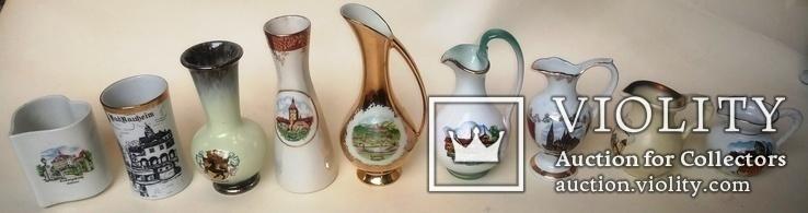 Вазы Кувшины 9 шт. фарфор, керамика. Европа