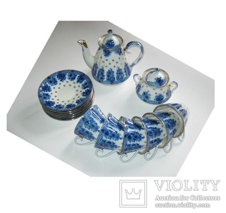 Комплект ( сервиз) чайный ЛФЗ. Корзиночка, фото №3