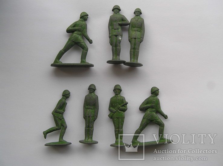 Оловянные солдатики 7 шт, фото №2