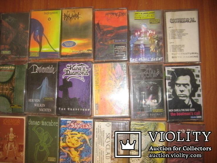 Аудиокассеты тяжелый рок зарубежного и отечественного 129 шт, фото №3