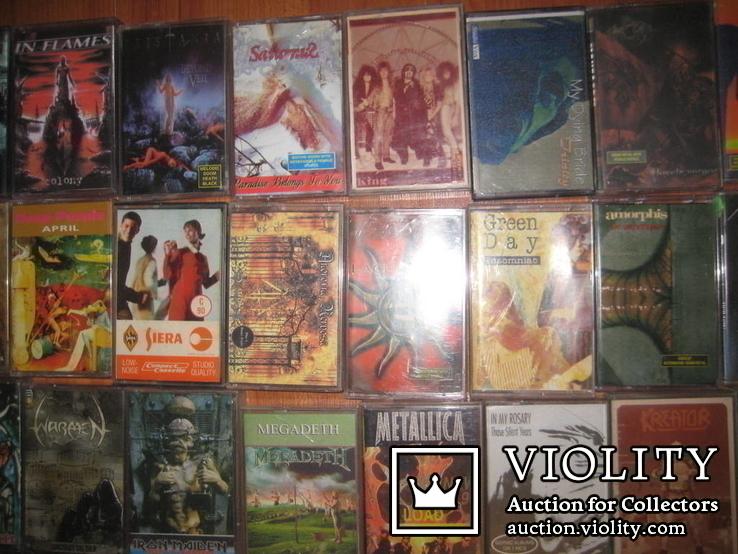 Аудиокассеты тяжелый рок зарубежного и отечественного 129 шт, фото №4