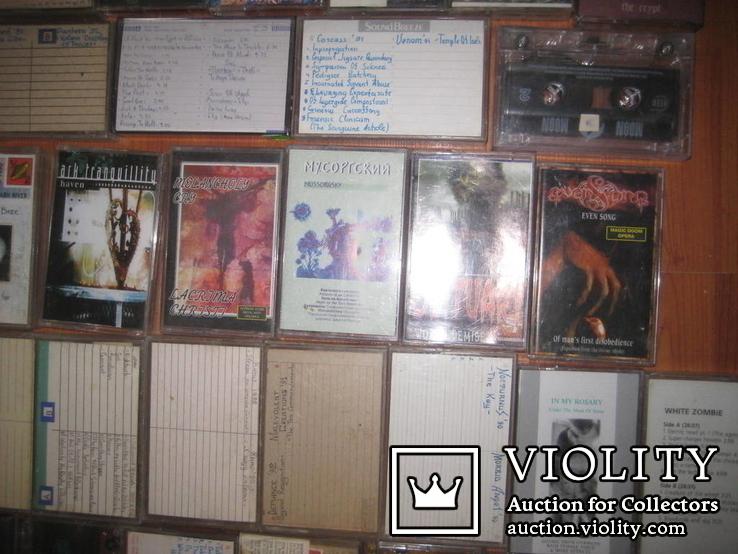 Аудиокассеты тяжелый рок зарубежного и отечественного 129 шт, фото №6