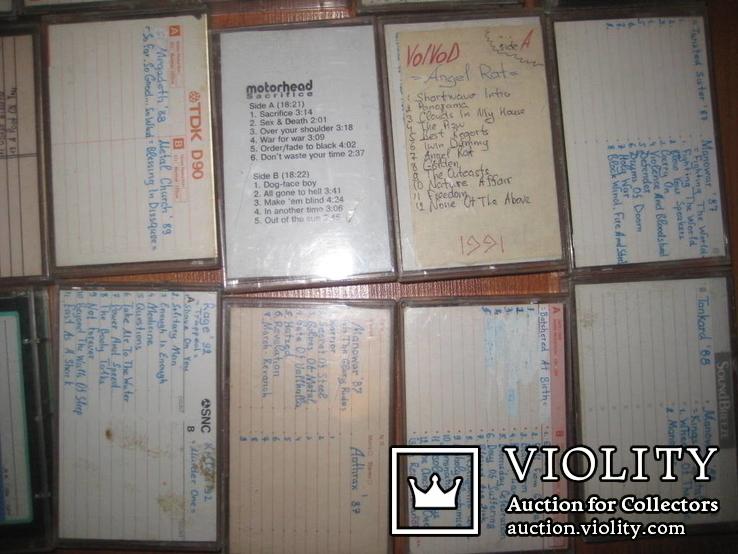 Аудиокассеты тяжелый рок зарубежного и отечественного 129 шт, фото №12