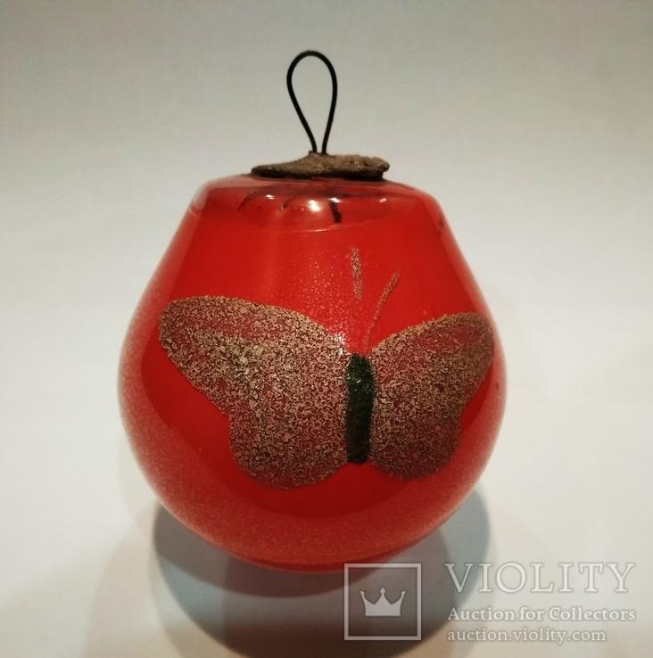 Ёлочная игрушка лампочка СССР