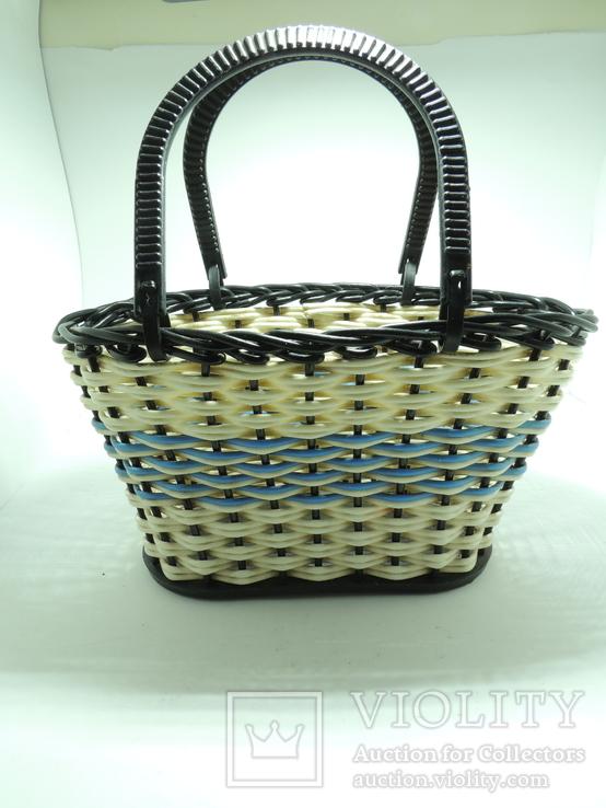 Корзинка лукошко сумка детская плетеная миниатюрная клеймо СССР, фото №2