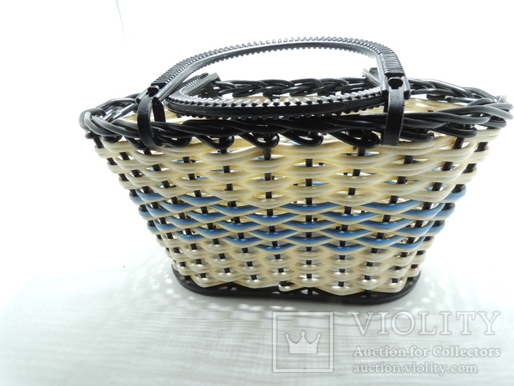 Корзинка лукошко сумка детская плетеная миниатюрная клеймо СССР, фото №4