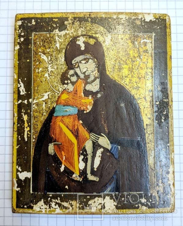 Икона Богородицы 10,9*8,7 см.