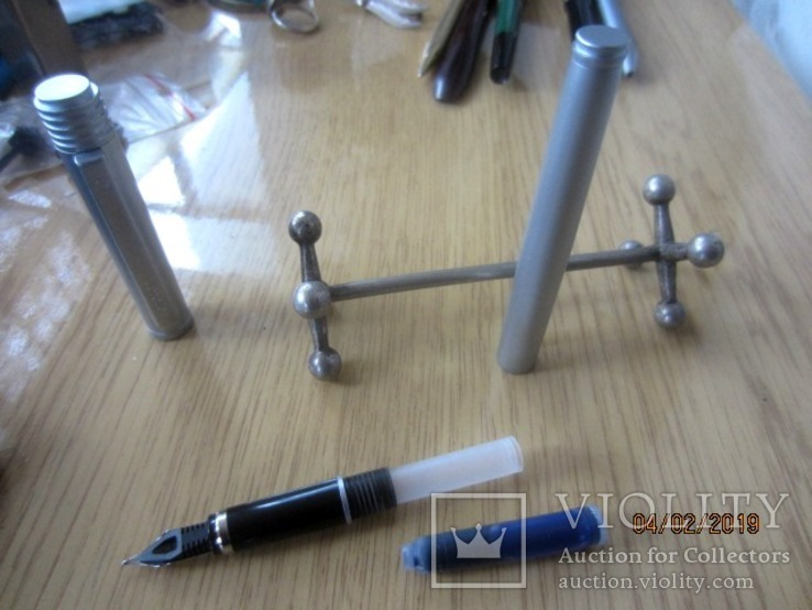 Перьевая ручка Сенатор Германия хром Металл, фото №10