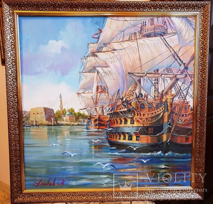 Корабль , худ. Ушаков