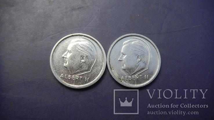 1 франк Бельгія 1994 (два різновиди), фото №3