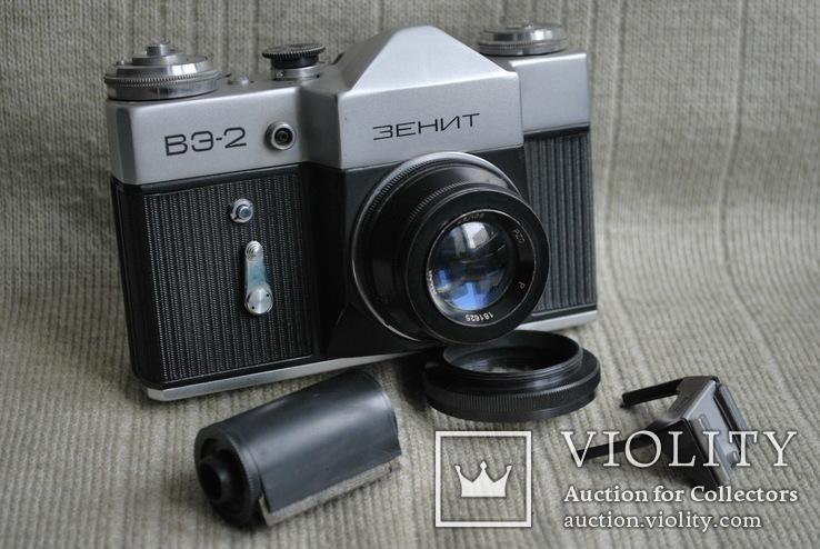 Фотоаппарат Зенит ВЭ-2, № 000189, выпуск 1975 год., фото №3