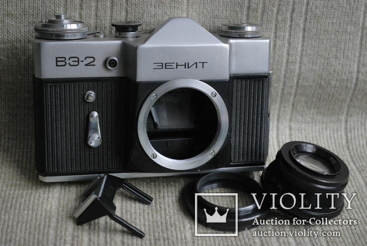 Фотоаппарат Зенит ВЭ-2, № 000189, выпуск 1975 год., фото №2