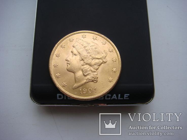 20 долларов 1904 г
