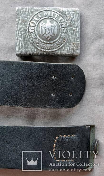 Ремень с пряжкой вермахт, фото №5