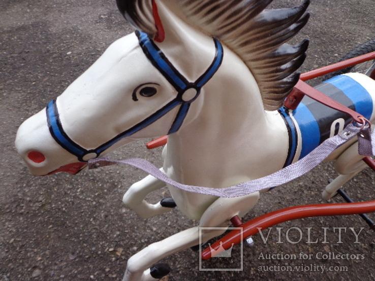 Лошадка (велосипед) педальная., фото №6