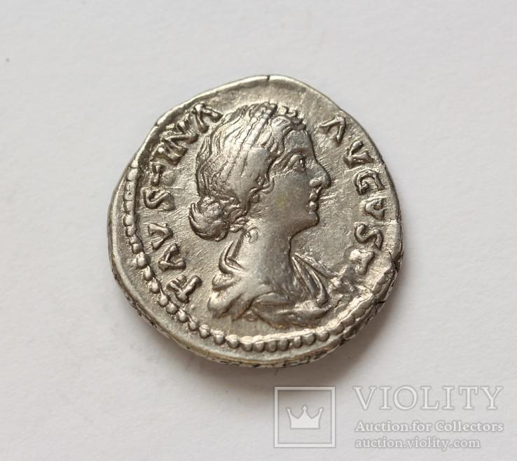 Фаустина II денарий RIC 677, фото №4