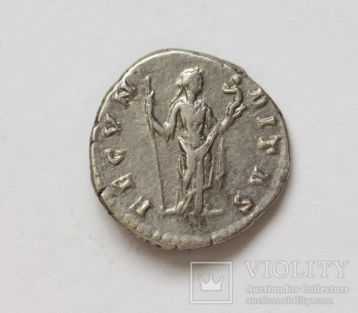 Фаустина II денарий RIC 677, фото №5