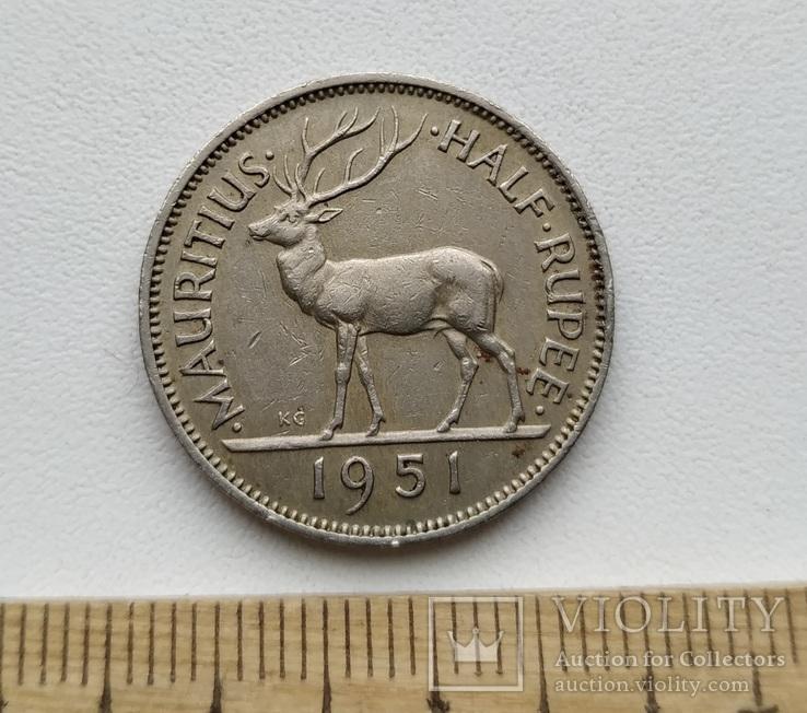 Маврикій 1/2 рупії 1951 р.