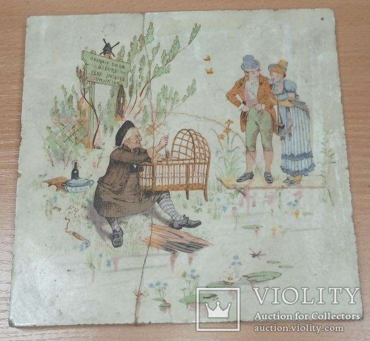 Старинная облицовочная плитка из киевского особняка XVIII век