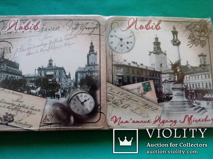 6 подставок под пивные кружки (бирдекелей) с изображением Львова (в запайке), фото №5