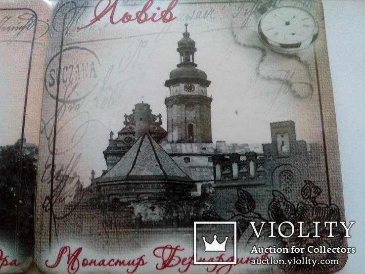 6 подставок под пивные кружки (бирдекелей) с изображением Львова (в запайке), фото №11