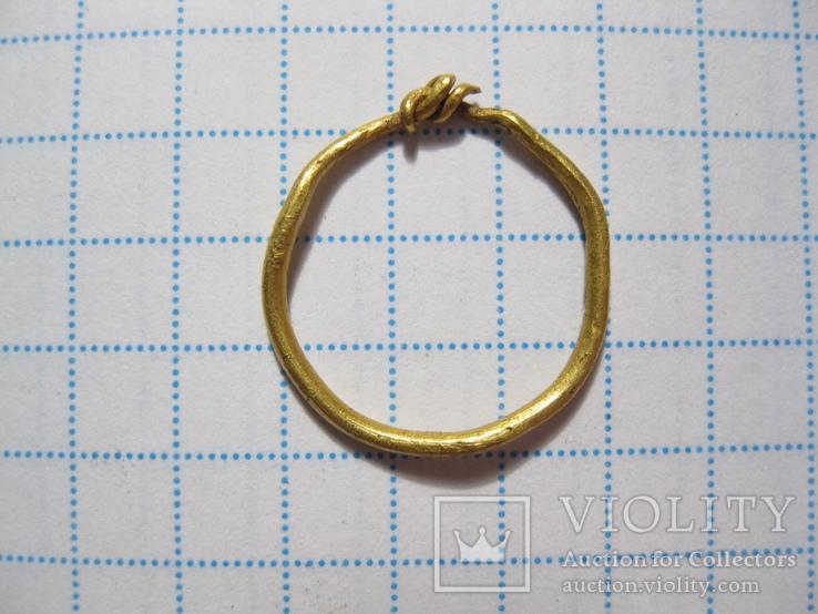 Височное кольцо Au КР