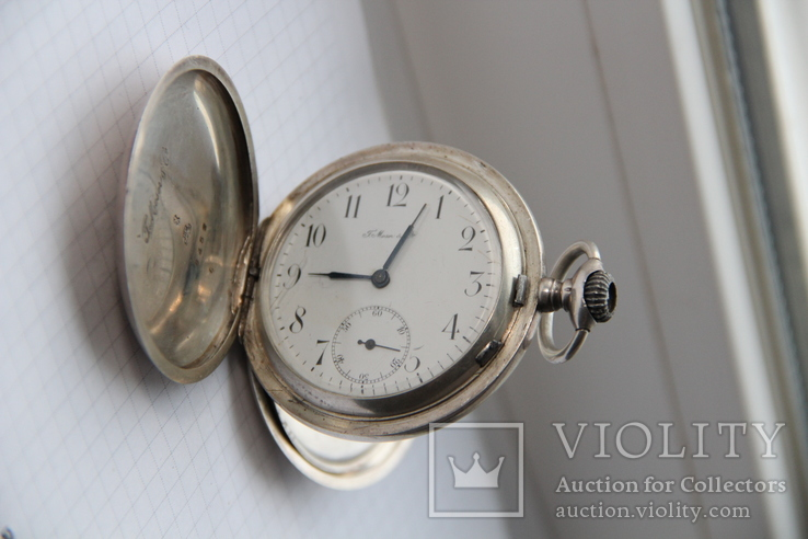 Серебряные карманные часы T Moser & Co