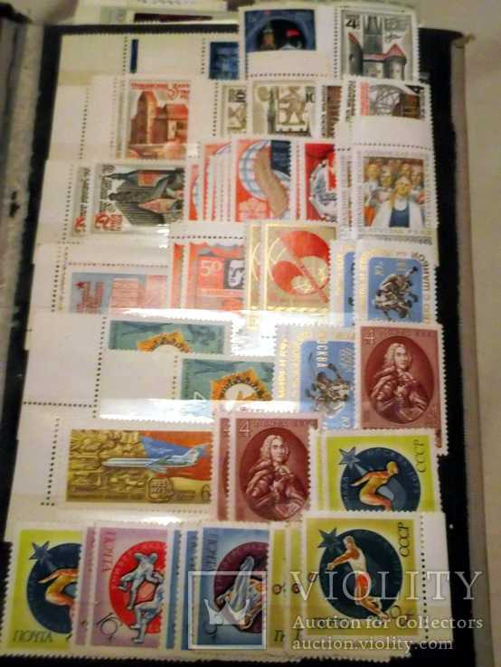 CCCP 1973 уголки 447 марок 123 блока