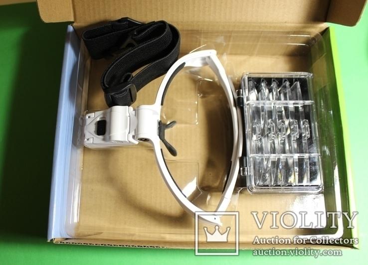 Бинокулярная лупа очки с подсветкой  увеличение 1x - 3,5x, фото №4
