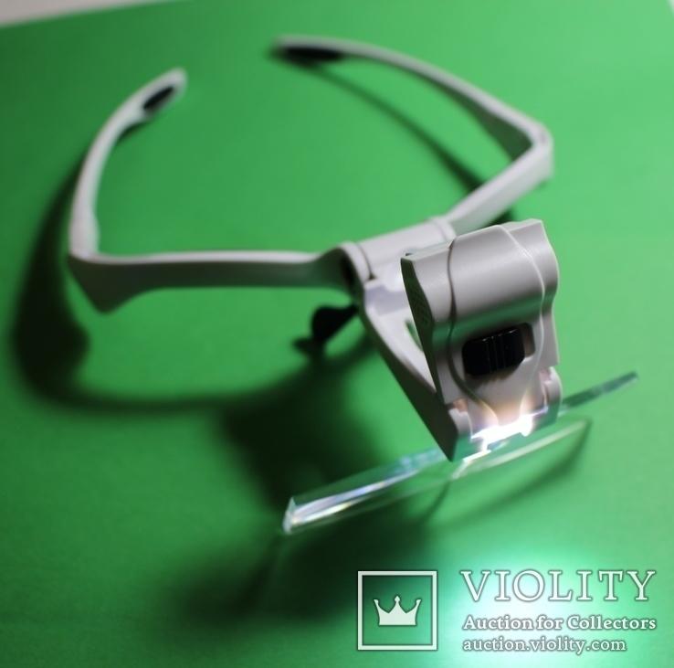 Бинокулярная лупа очки с подсветкой  увеличение 1x - 3,5x, фото №6