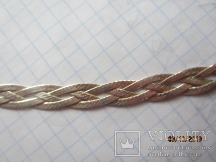 Колье сложного плетения, серебро 925, Италия, фото №7