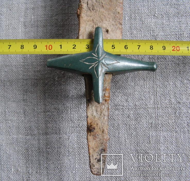 Сабля с бронзовой гардой и деталями ножен., фото №9