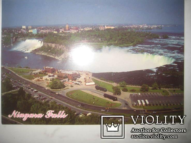 Канадская почтовая открытка Ниагарский водопад